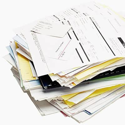 Pile-of-utility-bills