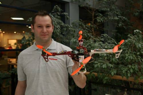 Steve from Raytheon UK with quadcopter!