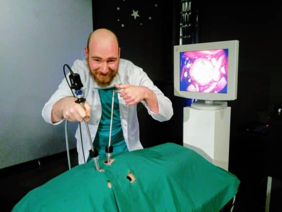 Would-be surgeon! - Scott Palmer of Dundee Science Centre