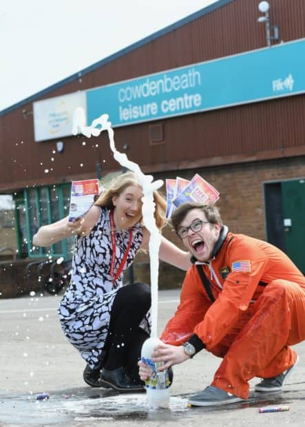 Isabella Melking & Jordan Young from Fife Science Festival - credit Central Fife Times