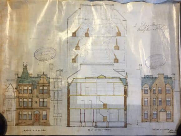 Original architects' drawings