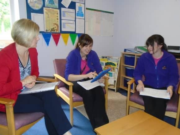 Educational Psychologist Jill Nixon (Left) with Teddy Bear Club Nursery team members