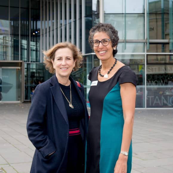 Kirsty Wark and Rachel Weiss