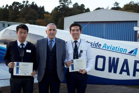 Felix and Jason, with Tayside Aviation MD Jim Watt