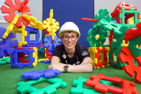 Dundee Science Centre's Emma Dixon preparing for the fun weekend! Credit - D C Thomson.