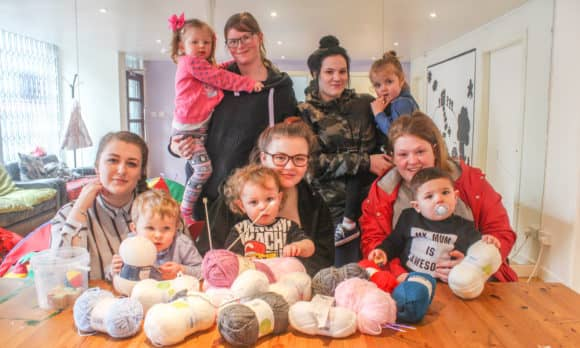 Some of the 'Kindred Clothing' Mums and their children