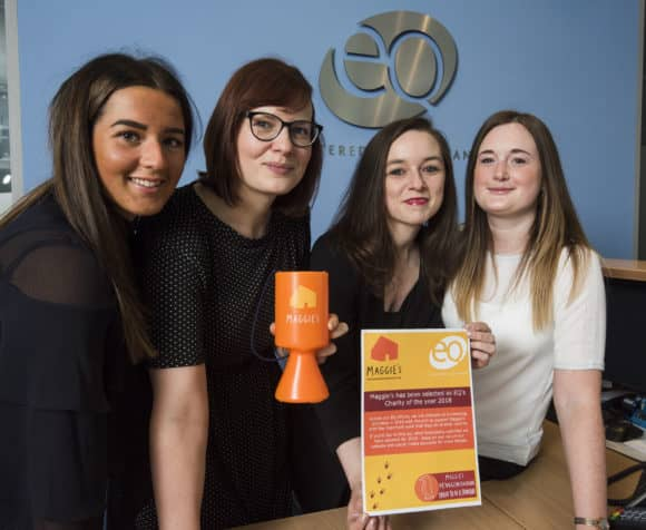 L-R - Hannah, Katie, Laura and Rachel of EQ Chartered Accountants. Pic - Alan Richardson Dundee, Pix-AR.co.uk