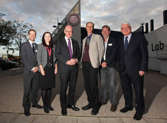 L-R: John Alexander, Linda Leuchars, John Swinney, Matthew Jarron, Rodney Mountain and Professor David Sigsworth.   Credit all pics: Ron Cathro Photography.