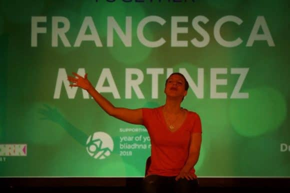 Francesca Martinez, comedian/actress/speaker/writer! - and guest speaker at the Dumfries event