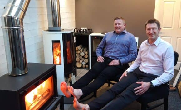 L-R:  Gary and Graeme Turnbull, Fire Surround Centres